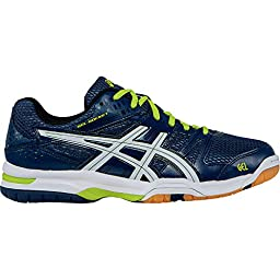 ASICS Men\'s Gel-Rocket 7 Volleyball Shoe, Navy/White/Lime, 6.5 M US