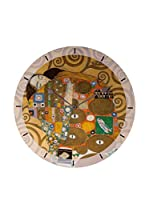 Artopweb Reloj De Pared Klimt Embrace