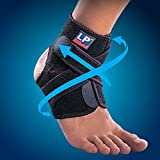 LP 757CA Extreme COOLMAX Ankle Support Stabiliser Brace injuries Strap Black