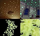DIY Selbstklebende Leuchtsterne Sterne Sternenhimmel 100 Leuchtsterne Wandtattoo Wanddeko Sternenhimmel