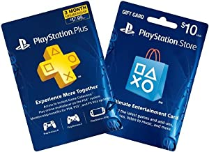 3-Month PS Plus + $10 PS Gift Card - PS3 / PS4 [Digital Code]