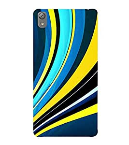 VINTAGE STRIPPED PATTERN 3D Hard Polycarbonate Designer Back Case Cover for Sony Xperia E5