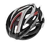 Cratoni Bullet Racing Bike Helmet black-white-red glossy black/grey (Head circumference: 53-56 cm)