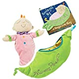 """Maven Gifts: Manhattan Toy Sweet Pea Snuggle Pod and Doll with Snuggle Pods """"Goodnight My Sweet Pea"""" Plush Book - Ages 6 Months And Up"""