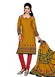 RK Fashion Yellow Colour Cotton Unstitched Dress Material (CHANDANI1030-Yellow-Free Size)