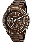 Fossil Stella Chronograph Brown Aluminum Mens Watch CH2746