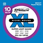 D'Addario EXL120-10PQS Nickel Plated...