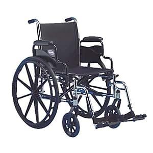 Invacare IVC Tracer SX5 Wheelchair w Legrest BLACK 20 in Seat Width Flipback
