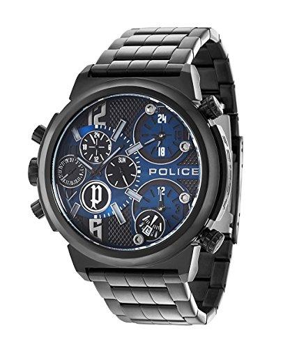 Police Orologio da Polso, Analogico, Acciaio Inox, Nero
