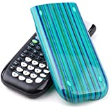 Guerrilla Hard Slide Case-Cover for TI-84 Plus, TI 84-Plus C Silver Edition, TI-89 Titanium Graphing Calculator, Blue Stripe