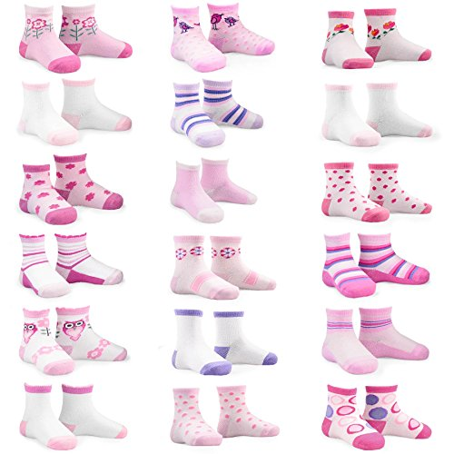 Naartjie Kids Girls Cotton Socks 18 Pairs Pack 3-5Y