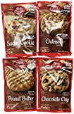 Betty Crocker Cookie Mix Variety Pack of Popular Flavors: (1) Chocolate Chip Cookie Mix + (1) Peanut Butter Cookie Mix + (1) Oatmeal Cookie Mix + (1) Sugar Cookie Mix. (4 flavors per order)