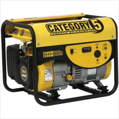 Champion Power Equipment 42433 1,500 Watt 80cc 4-Stroke OHV Gas Powered Portable Generator (CARB Compliant)