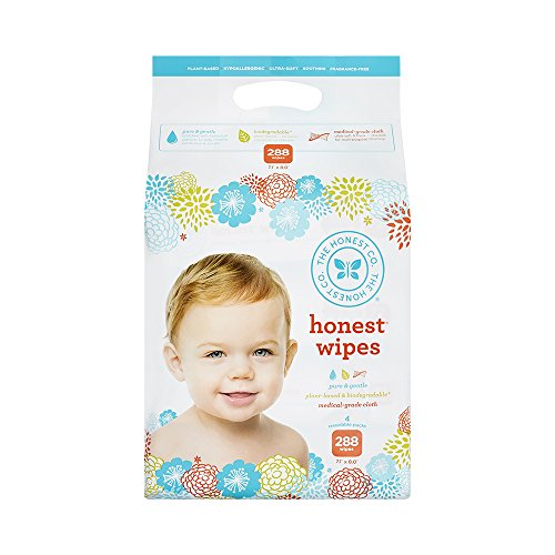 The Honest Company Honest Company Baby Wipes, Fragrance Free, Classic, 288 Count