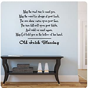Old irish blessing wall decal sticker art for Irish home decorations