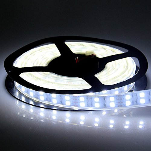 Ledenet® 5M Double Row 600Leds Smd 5050 Led Flexible Strip Lighting Dc 12V Cold Cool White Waterproof Outdoor Use