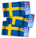 cardholder, credit card holder, oyster card holder - cardbox design SWEDEN flag - 3 pieces