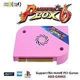 TAPDRA 3A Original Arcade Jamma Board Pandora's Box 6 with 1300 Multi Game Arcade Machine Accessory DIY Kit, Support Add Games and FBA MAME PS1, Support LCD and VGA (Tamaño: Jamma Board)