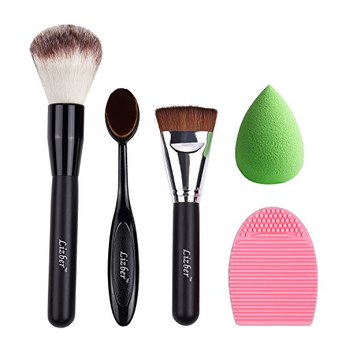 makeup-brush-oval-toothbrush-curve-foundation-brush-flat-contour-makeup-brush-brush-cleaner-washing-
