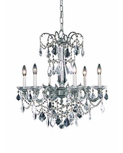 Crystal Lighting Athena 6-Light Hanging Fixture, Pewter