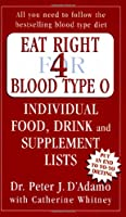 Eat Right for Blood Type O: Individual Food, Drink and Supplement lists