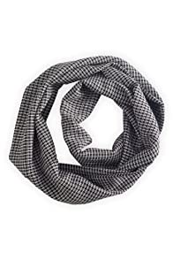 Green 3 Apparel Reclaimed Graphic Check Infinity Scarf