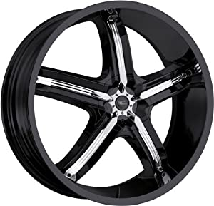 Milanni Bel-Air 5 20 Black Wheel / Rim 5×4.5 & 5×120 with a 18mm Offset and a 74.1 Hub Bore. Partnumber 459-2821GB18