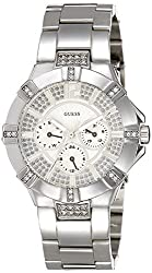 GUESS Analog White Dial Womens Watch - W12080L1