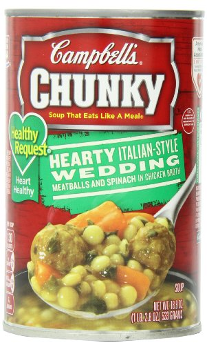 Campbell'S Chunky Healthy Request Hearty Italian-Style Wedding Soup, 18.8 Ounce Cans (Pack Of 12)