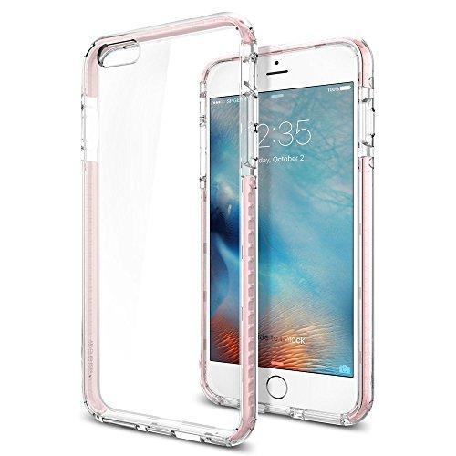 Spigen iPhone6s Plus ケース / iPhone6 Plus ケース, ウルトラ・ハイブリッド テック [ 背面 クリア ] アイフォン6s プラス 用 米軍MIL規格取得 耐衝撃カバー (クリスタル・ローズ SGP11789)