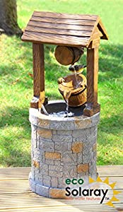 Primrose Water Feature Solar Powered Wishing Well OGD151