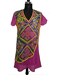 ADS Womens Digital Print Pink Kurti/Tunic - B00NPQCQ6W