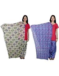Indistar Women's Cotton Patiala Salwar With Dupatta Combo (Pack Of 2 Salwar With Dupatta) - B01HRONS1O