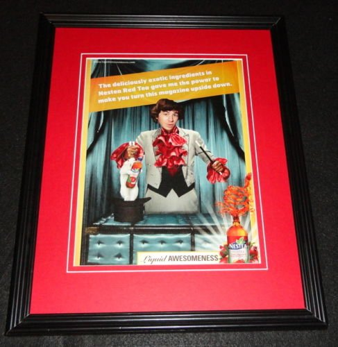 2009-nestea-red-tea-framed-11x14-original-vintage-advertisement