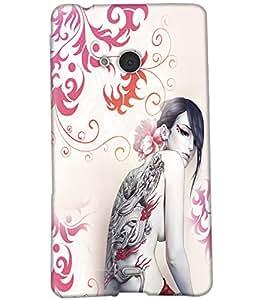 Fuson Awsum Pattern Girl Back Case Cover for NOKIA MICROSOFT LUMIA N540 - D3931