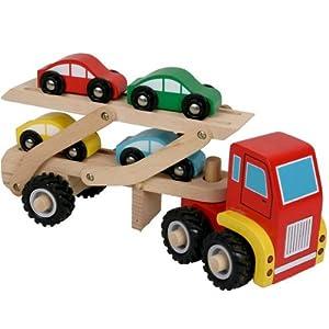 camion en bois de transport de voitures jouet en bois enfants 3 ans jeux et jouets. Black Bedroom Furniture Sets. Home Design Ideas