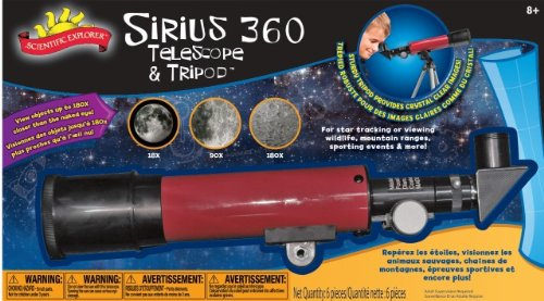 Poof-Slinky - Scientific Explorer Sirius 360 Telescope With 180X Magnification And Tripod Kit, 0Sa400Bl