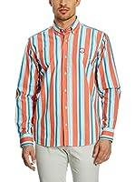 Galvanni Camisa Hombre Francis (Naranja / Azul)