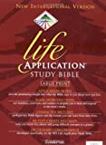 img - for NIV Life Application Study Bible, Large Print, Indexed book / textbook / text book
