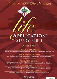 NIV Life Application Study Bible, Large Print, Indexed
