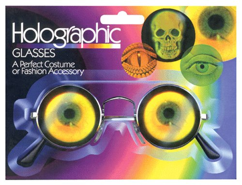 Costume Accessories- Scientist Hologram Bug Eye Glasses - 1