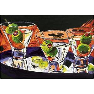 "Magic Slice Non-Slip Flexible Cutting Board, Party Size 7.5"" x 11"", 3 Martinis by Julia Gilmore"
