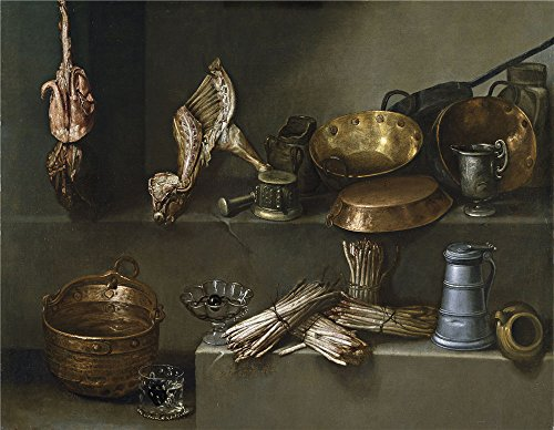 The Perfect Effect Canvas Of Oil Painting 'Arias Ignacio Bodegon Con Recipientes De Cocina Y Esparragos Ca. 1652 ' ,size: 8 X 10 Inch / 20 X 26 Cm ,this Reproductions Art Decorative Canvas Prints Is Fit For Nursery Gallery Art And Home Decor And Gifts (Semi Gloss Tile Sealer compare prices)