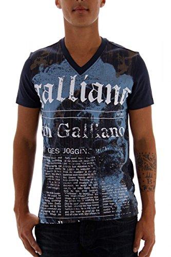 John Galliano T-shirt da uomo blu taglia S