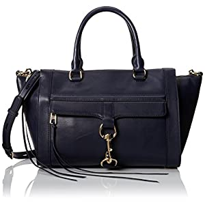 Rebecca Minkoff Bowery Satchel Handbag,Ink,One Size