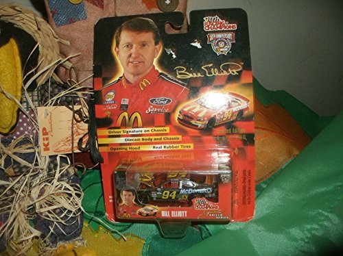 Bill Elliott - Racing Champions - 1998 - NASCAR 50th Anniversary - Signature Driver Series - No. 94 McDonald's Ford Taurus - 1:64 Scale Die Cast Replica Collector Car - 1