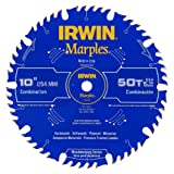 IRWIN Marples 10-Inch Miter / Table Saw Blade, ATB, 50-Tooth (1807368) (Tamaño: 10