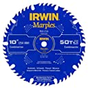 Irwin Tools  1807368 Marples Laser Cut 10-Inch 50-Tooth Alternate Tooth Bevel with Raker Tooth Circular Saw Blade