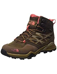 The North Face Hedgehog Mid GTX Hiking Boot - Women's Cub Brown/Fiesta Red, 9.5