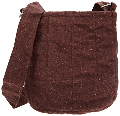 2-Tier Cotton Carrier Bag Plum Brown - 1 - Bag